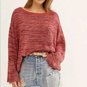 Free People Prism Space Dye Knit Pullover Sweater